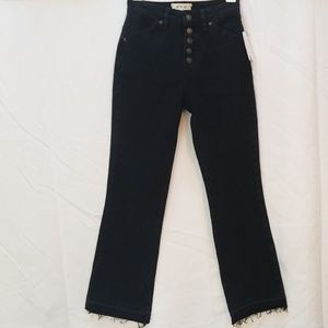 Free people black denim button-down Jean's sz 24